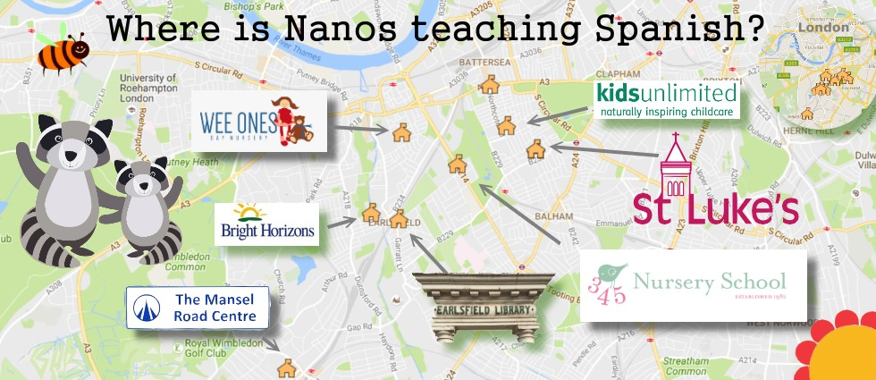 Map to Where is Nanos teching Spanish?